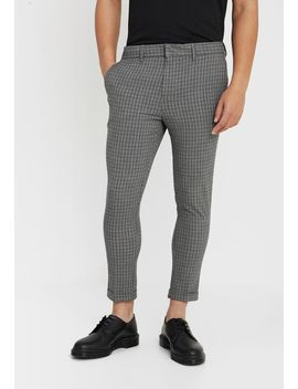 Mini Grid Check Skinny Stetchcrop   Broek by New Look