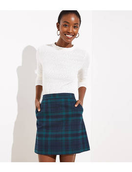 Plaid Pocket Shift Skirt by Loft