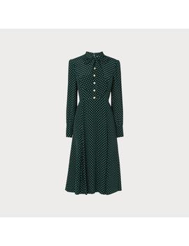Mortimer Green Polka Dot Silk Dress by L.K.Bennett