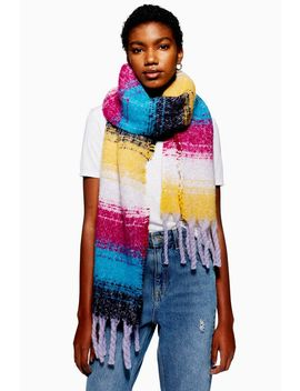 Heavy Stripe Scarf by Topshop