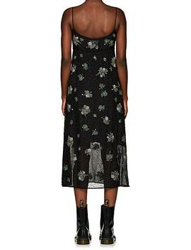 Floral Embellished Silk Dress by Marc Jacobs