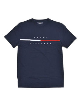 Tommy Hilfiger Mens Crew Neck T Shirt Short Sleeve Graphic Tee Flag Logo New by Ebay Seller