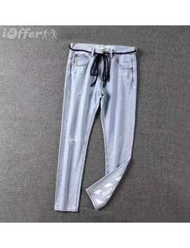 New Style Men's Off White Men's Jeans Pants by I Offer