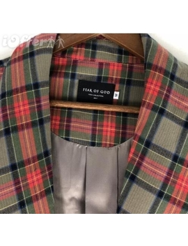Fear Of God Fifth Collection Oversized Long Plaid Coat by I Offer