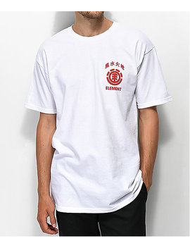 Element Woodcut White & Red T Shirt by Element