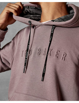 Logo Cotton Blend Hoodie by Ted Baker