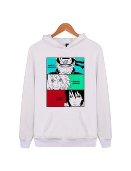 Naruto Hoodies 100 Percents Cotton 2018 Autumn Winter Fashion Men Hoodies Casual Sweatshirt Solid Color Warm Men Hoodies Black X4355 by Fasxxion