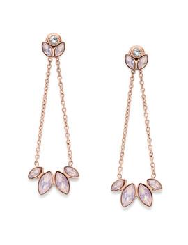 Navette Pink Glass Chandelier Earrings by Fossil