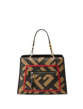 Runaway Small Century Calf Ff Tote Bag by Fendi