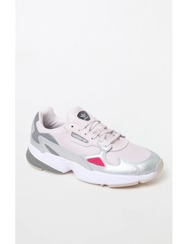 Adidas Women's Pink Falcon Sneakers by Pacsun