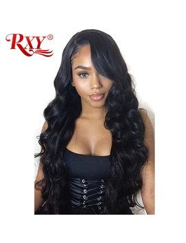 Rxy 13x6 Peruvian Body Wave Wig Guleless Lace Front Human Hair Wigs For Black Women Free Part Pre Plucked With Baby Hair Remy by Rxy