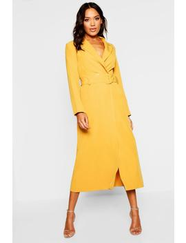 Woven Double Breasted Maxi Blazer Dress by Boohoo