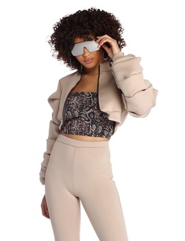Bubbly Babe Crop Jacket by Windsor