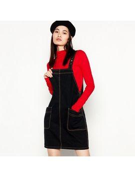 Red Herring   Black Denim Pinny Mini Dress by Red Herring