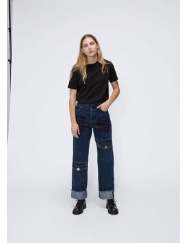 Multi Pocket Denim Trousers by J.W. Anderson