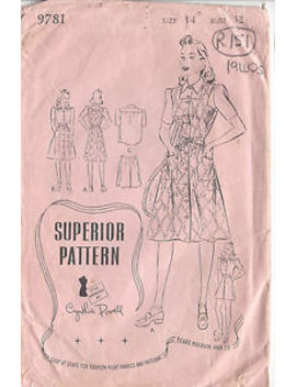 "1940s Vintage Sewing Pattern B32"" Dress, Shirt, Shorts & Skirt (R151) by Ebay Seller"