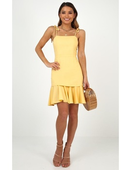 Sweetest Sin Dress In Lemon by Showpo Fashion