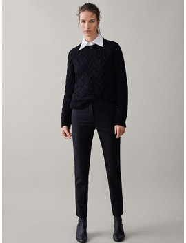 Pantalon Uni Slim Fit by Massimo Dutti