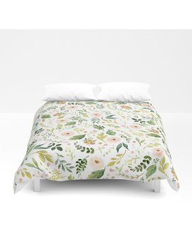 Botanical Spring Flowers Duvet Cover by