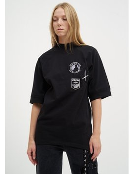Hyein Seo Embroidered Army T Shirt   Black by Garmentory
