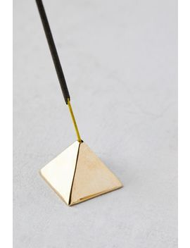 Geo Block Metal Incense Holder   Set Of 3 by Urban Outfitters