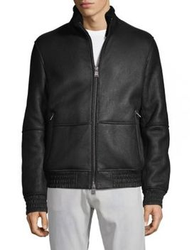 Carim Lambskin & Shearling Jacket by Boss Hugo Boss
