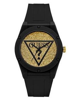 Iconic Glitter Sport Silicone Watch by Guess