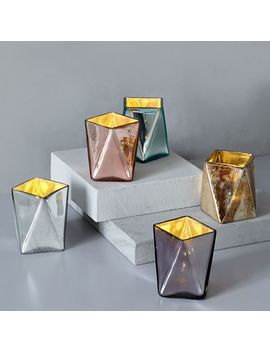 Prism Mercury Candleholders by West Elm