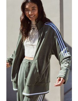 Adidas Winter Ease Velour Track Jacket by Pacsun