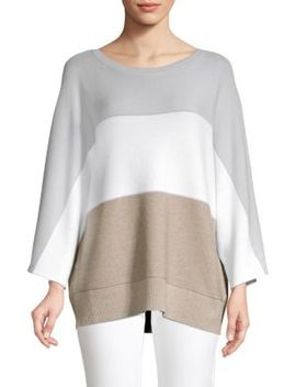 Colorblock Cashmere Blend Dolman Sweater by Lafayette 148 New York