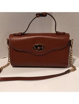 Brown Genuine Leather Cross Body Bag by Brooks Brothers