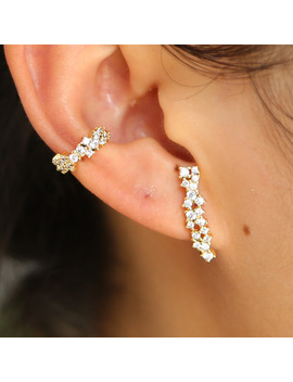 Aaa Clear Cubic Zirconia Gold Earring Clip Women Luxury Fashion Drop Shiping Cz Long Bar Earring Stud Dainty Girls Simple Ear by Idowaitting