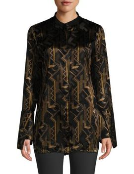 Marybeth Geometric Print Blouse by Lafayette 148 New York