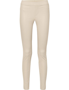 Leather Skinny Pants by Helmut Lang