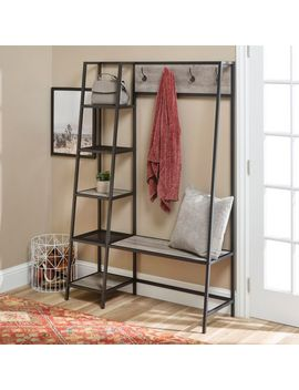 Urban Industrial Gray Wash Hall Tree With Shelves by Pier1 Imports
