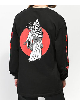 Lurking Class By Sketchy Tank Geisha Black Long Sleeve T Shirt by Lurking Class By Sketchy Tank