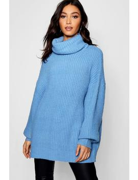 Tall Oversized Roll Neck Jumper by Boohoo