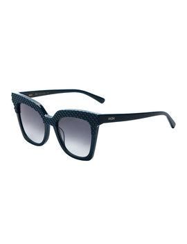 Mcm644 S Blue Angular Cat Eye Sunglasses by Mcm