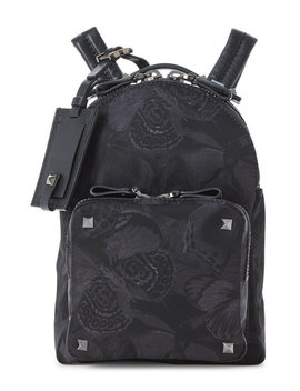 Black Butterfly Mini Backpack by Valentino Garavani