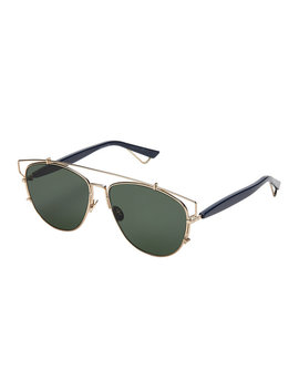 Technologic 1 Uuo7 Gold Tone & Navy Aviator Sunglasses by Dior