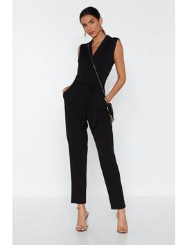 Suit Up Tuxedo Jumpsuit by Nasty Gal