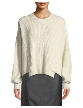 Paneled Crewneck Pullover Sweater by Vince
