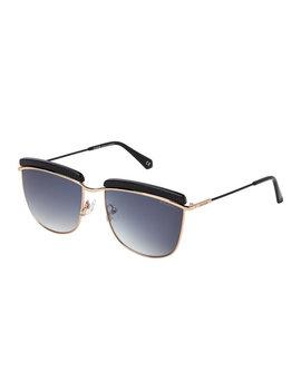 Bl2521 Gold Tone & Black Aviator Sunglasses by Balmain