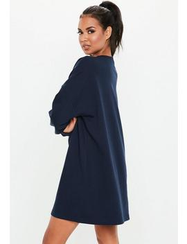 Navy Crew Neck Jumper Dress by Missguided
