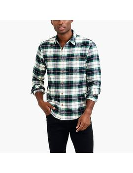 Slim Flannel Shirt In Tartan by J.Crew