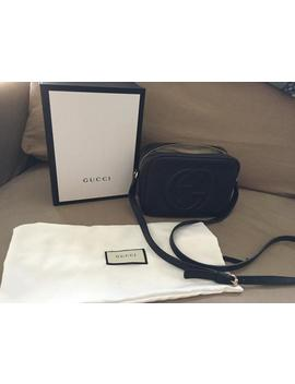 Soho Soho Disco Disco Black Calfskin Leather Cross Body Bag by Gucci