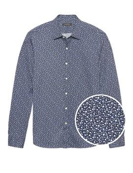 Grant Slim Fit Floral Performance Knit Shirt by Banana Repbulic