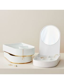 Modern Lacquer Jewelry Box – Soft Geo (Stacking) by West Elm