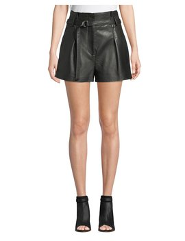 High Waist Leather Shorts by 3.1 Phillip Lim