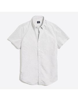 Slim Fit Short Sleeve Flex Oxford Cotton Shirt In Stripe by J.Crew